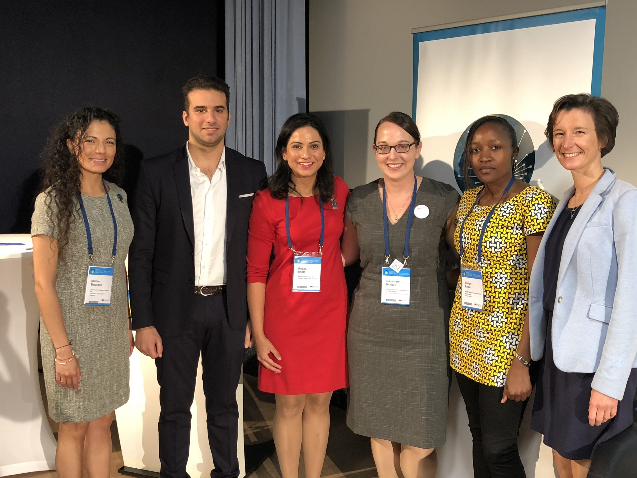 SEEK Managing Director Christina Schrade with other panelists following a panel at the World Health Summit hosted by Women in Global Health.
